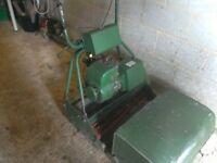 Petrol self propelled lawnmower with grass box 4 stroke engine 24 inch cylinder cutting blades gwo