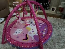 Baby play gym unicorn