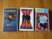 3 music VHS Videos, Offspring. Blink 182, Green Day.
