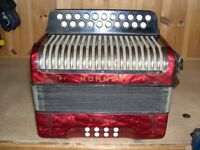 Hohner Erica, 2 Row, 2 Voice (Swing Tuned), C, C Sharp, Melodeon.