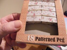 18 Very Pretty Indoor Pegs New In The box Never Used