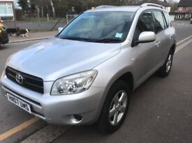 LOW MILEAGE,HPI CLEAR,AUTOMATIC,2007 TOYOTA RAV 4 TX3,PETROL,110000 MILES,FULL SERVICE JUSTBEEN DONE