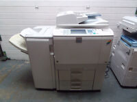 Ricoh MPC6000 A3 A4 colour photocopier printer scanner staple finisher. 60cpm