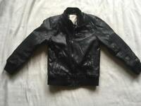 Zara boys leather jacket age 5/6yrs used v.good condition £5