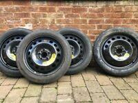 4 x Genuine Volvo XC90 V70 XC70 S60 S80 Space Saver Spare Wheels 125/80R17 Tyres
