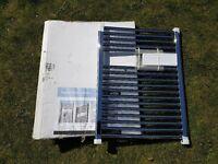 IFLO 25MM FLAT CHROME FLAT TOWEL RAIL H800 X L600 NEW IN BOX