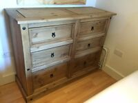 Solid Wood Furniture For Sale - Double Bed, Bedside Cabinet, 6-drawer Chest, Bamboo Sofa Set