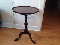 Small Wine Table real wood, french polished in beautiful condition. Macclesfield, Cheshire.