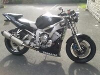 Yamaha R6 Naked Streetfighter. Low mileage with new M.O.T