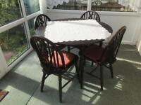 Dining Table & Four Chairs Suit Shabby Chic