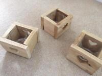 15 Wooden candle holders, wedding.