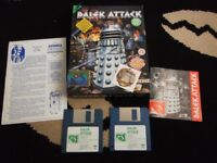 vintage ibm dalek attack game big box complete