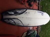 "5'6"" quad surfboard shortboard fish"