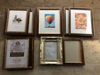 assorted wooden frames