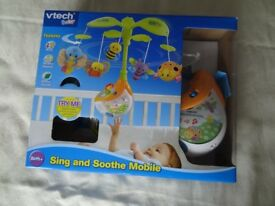 Vtech Sing and Soothe musical cot mobile.