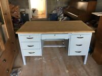 Upcycled vintage desk, solid wood