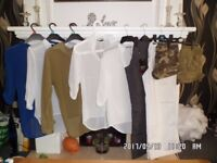 ladies size S/8 tops, trousers and shorts bundle (new and used)