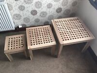 IKEA SKOGHALL NEST OF TABLES