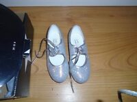 Silver Tap Shoes Size 10 New and boxed