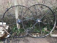 Beautiful vintage agricultural wheels.