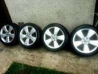 17 inch 5x112 genuine Audi A3 alloys wheels