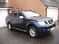 Nissan Navara Auto 2.5 dCi 4x4 Tekna Double Cab Pickup with Canopy,Leather and sat nav NO VAT