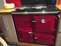 Rayburn Heatranger 308K in Claret Red for sale.