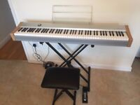 Casio PS-20 88-Key Digital Piano with sustain pedal, foldable stand, seat and carry bag