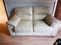 2 seater cream sofa