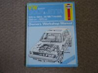 Haynes Manual VW Golf and Jetta 1974-1984