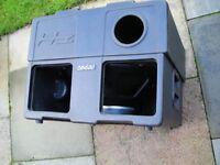 HZ SB600 BASS CAB--TWIN VOICE COILS--300+300 WATTS-MANCHESTER