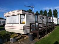 6-8 berth caravan to let Chapel St Leonards Golden Palm