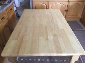 Pine oblong kitchen table,