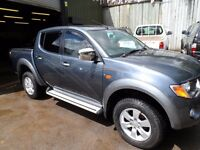 2006 56 MITSUBISHI L200 ANIMAL , MANUAL , GREY , LEATHER, 133K , CLEAN TRUCK , FREE UK DELIVERY