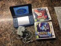 Nintendo 3DS XL, Charger, 2 games