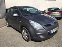 Fantastic Value 2009 Hyundai i20 Comfort 3 Dr Hatchback 89000 Miles FSH HPI Clear Alloys And Climate
