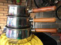 Prestige Copper bottom pans X3