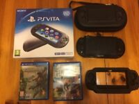 PS Vita slim PCH-2003 WiFi Bundle (Very Good Condition)
