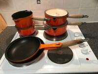 Le Creuset Cast Iron Pan Set and Frying Pans