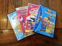 Shrek the Third DVD, Balamory PC Game, Bob the Builder PC Game and Firefighter DVD