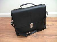 Black Leather Brief Case