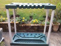 Keter garden tool storage rack