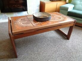 Vintage Danish Style Tiled Coffee Table