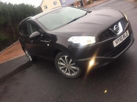 Nissan Qashqai +2 7 seater TEKNA !!!NEW MOT!!!!! Black high spec will extras