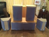 Hi Fi and Surround Sound 5.1 Speakers including Power Subwoofer
