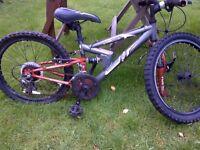 kids all suspension Apollo mountain bike needs some work done to it