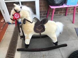 Children's ride on pony