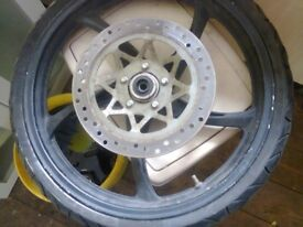SKYJET 125cc FRONT WHEEL GOOD NICK GOOD TYRE AND DISK £40