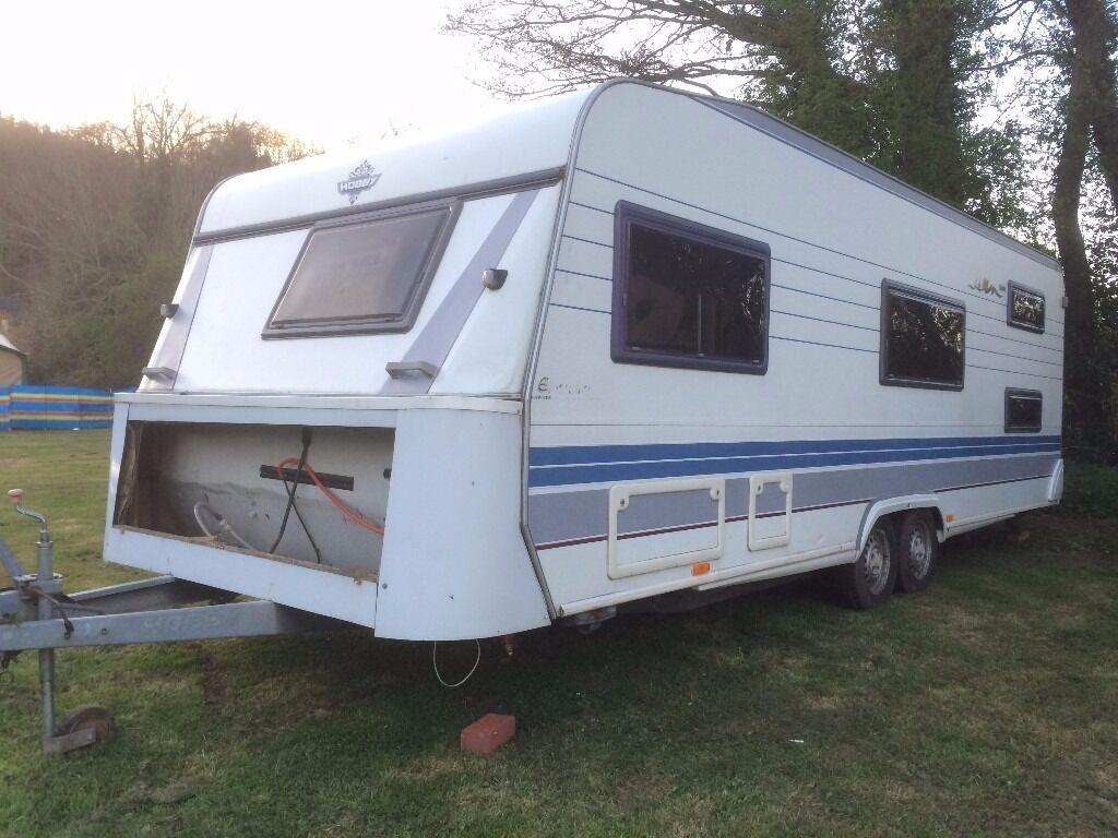 hobby 650 exclusive caravan 23ft in kidderminster. Black Bedroom Furniture Sets. Home Design Ideas