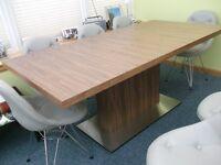 Evita Oak Wooden Extending Modern Dining Table